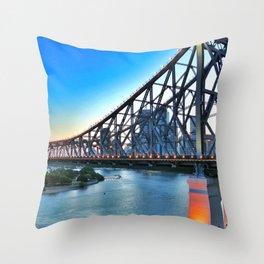 Brisbane has a Story Throw Pillow