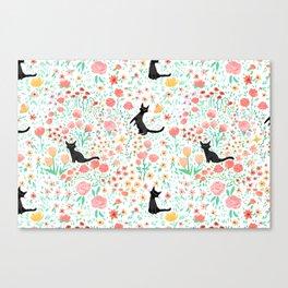 Lucky Cat Garden Canvas Print