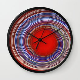 Red Hole Wall Clock