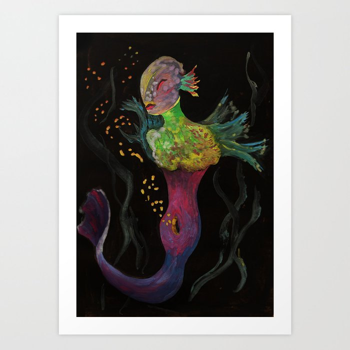 Birth of Mermaids Art Print