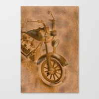 motorbike Canvas Prints featuring motorbike grunge by Christine baessler