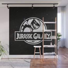 Jurassic Galaxy - White Wall Mural