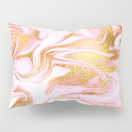 Rose Gold Marble Agate Geode Pillow Sham