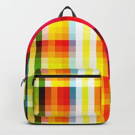classic multicolored retro pattern Backpack