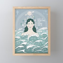 Waves of unconditional love washing over me Framed Mini Art Print