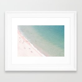 beach - summer of love Framed Art Print