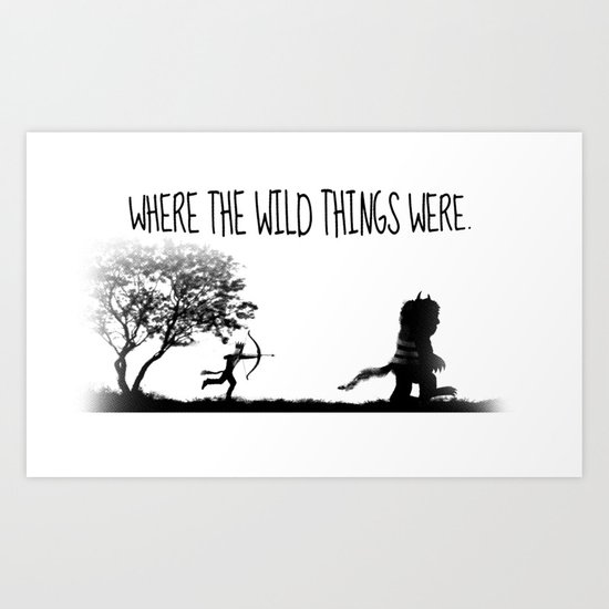 Where the wild things were. Art Print