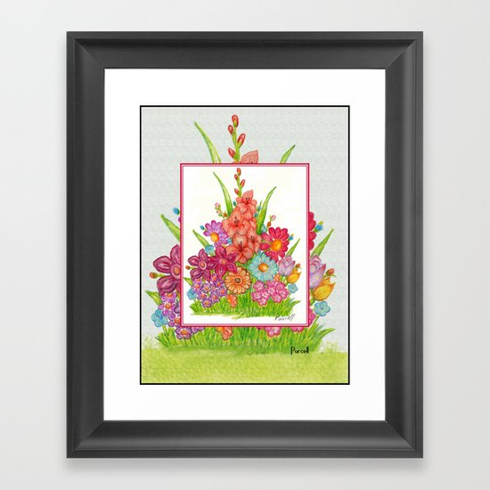 Daisy Garden Framed Art Print
