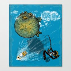 pufferfish baloon Canvas Print