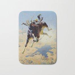 """William Leigh Western Art """"A Fighting Cyclone"""" Bath Mat"""