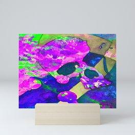 Pink skull Mini Art Print