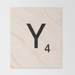 Scrabble Letter Y - Scrabble Art and Apparel Throw Blanket
