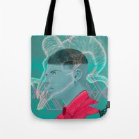 aries Tote Bags featuring Aries by Musya