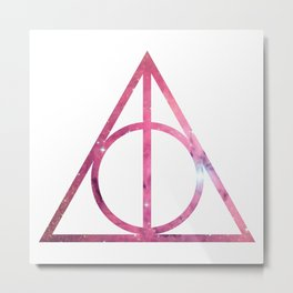 Deathly Hallows Galaxy HarryPotter Metal Print