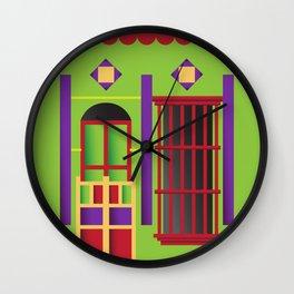 Casita Verde del Saladillo Wall Clock