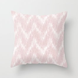 Simple white, pink pattern. Throw Pillow