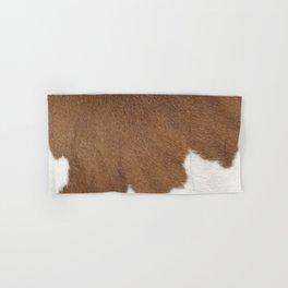 Brown Cowhide, Cow Skin Pattern, Farmhouse Decor Hand & Bath Towel