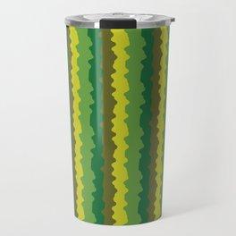 Curve Vertical Lines Travel Mug