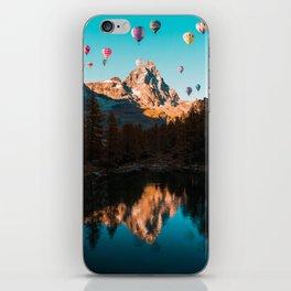 Hot Air Balloons over Matterhorn iPhone Skin