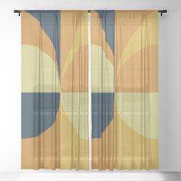 Geometry Games Sheer Curtain