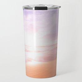 Sunset Beach Scene , Summertime, Pastel Sky Travel Mug