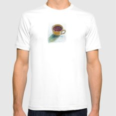 Cherry compote in my cup Mens Fitted Tee MEDIUM White