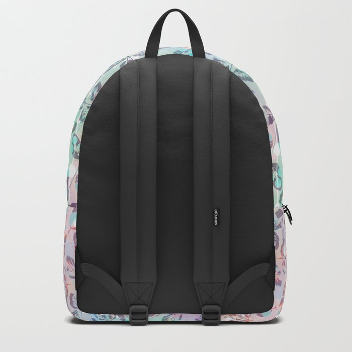 Abstract floral pattern. Backpack