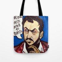 kubrick Tote Bags featuring Kubrick by Hugo Maldonado