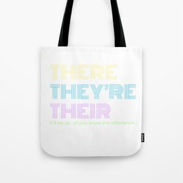 There They're Their Tote Bag