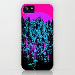 Mod Trees: Fuchsia Purple Turquoise iPhone Case