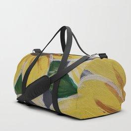 Handmade Sunflower Painting Duffle Bag