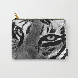 Tiger Eyes - White Carry-All Pouch