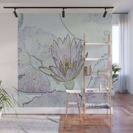 Waterlily Abstract Wall Mural