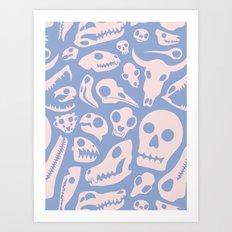 Soft Skulls Art Print