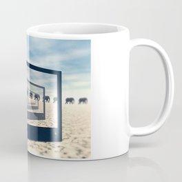 Surreal Elephant Desert Scene Coffee Mug