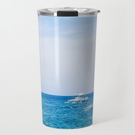 Dive Boat in the Bohol Sea Travel Mug