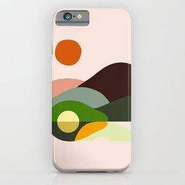 Abstraction Avocado Mountains iPhone Case