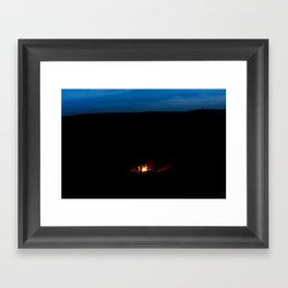 Climbers in the Pit Framed Art Print