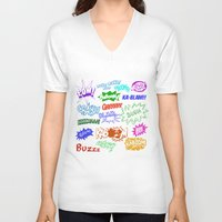 comic V-neck T-shirts featuring Comic Phrases by ErikMcManusInc.