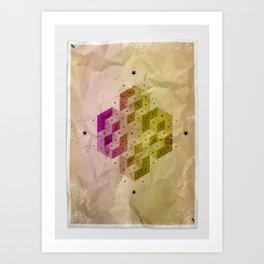Cubic Totems Art Print