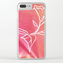 Floral No.22 Clear iPhone Case