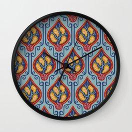 Blue KLimt Pattern Wall Clock