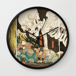 Takiyasha The Witch And The Skeleton Utagawa Kuniyoshi Wall Clock