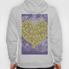 Gold butterflies on ultraviolet fractal texture Hoody