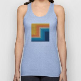Retro 70s Color Lines Unisex Tank Top
