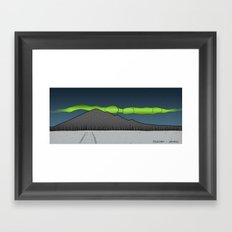 Pyhajarvi - Finnish Lapland - NIGHT Framed Art Print