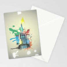 Swan Bell Tower Abstract Stationery Cards