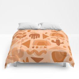 Orange Cutout Print Comforters