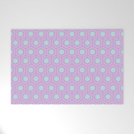 Honeycomb Lilac Welcome Mat