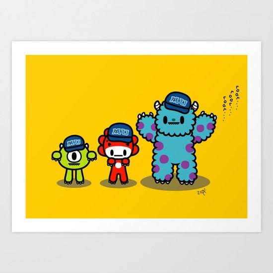 QiQi at Monsters University Art Print